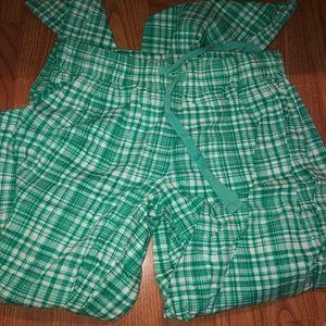 Green plaid pajama pants by Arizona Jean Company